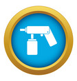 spray aerosol can bottle with a nozzle icon blue vector image vector image
