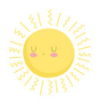 sun cartoon character weather isolated icon design vector image vector image