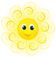 sunny face vector image vector image