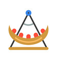 swing boat icon amusement park related flat style vector image vector image