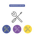 technical service line icon vector image