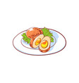 thai cuisine dish isolated icon vector image