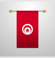 tunisia hanging flag vector image vector image