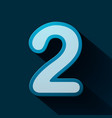 volume icons number two vector image vector image