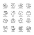 web and mobile app development line icons 1 vector image vector image