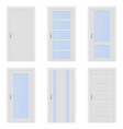 white doors interior designs with glass elements vector image vector image