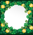 white paper on shamrock leaves and coin vector image vector image