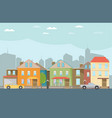 small town urban landscape in flat design style vector image