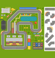 Race track curve road vector image