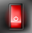 Red switch button vector image