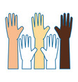 isolate multiculturalism hands