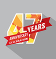 47th Years Anniversary Celebration Design vector image vector image