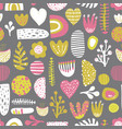 abstract shapes seamless colorful pattern vector image