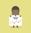 african businessman shows a business plan vector image