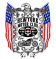 american eagle linework motorcycle t-shirt graphic vector image