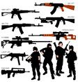Automatic weapons set vector | Price: 1 Credit (USD $1)