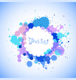 background template with blue and purple splashes vector image vector image