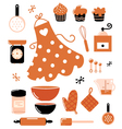 Baking icons vector image