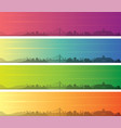 bandung multiple color gradient skyline banner vector image vector image