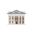 bank building isolated on white background vector image vector image