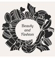 Beauty and fashion background design with cosmetic vector image vector image