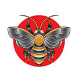 bee tattoo design vector image