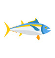 blue tuna fish icon vector image vector image