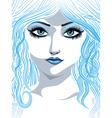 Blue winter girl2 vector image vector image