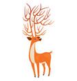 bright orange deer vector image vector image