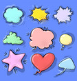 cartoon funny comic empty speech bubbles set on vector image