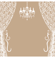 chandelier and curtains vector image vector image