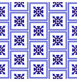 chinese pattern blue and white vector image vector image