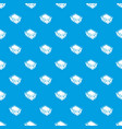 clothes in basket pattern seamless blue vector image vector image