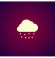 cloud rain icon vector image vector image