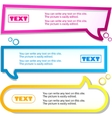 colorful banner for text vector image