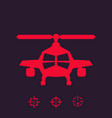 combat helicopter sign vector image vector image