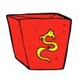 comic cartoon noodle box vector image vector image