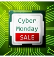 Cyber Monday Sale poster electronic circuit board vector image