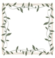 Decorative frame of leaves vector image