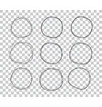 doodle sketched circles hand drawn scribble rings vector image vector image