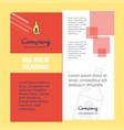 drink bottle company brochure title page design vector image vector image