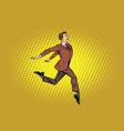 elegant businessman runs forward vector image vector image