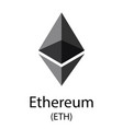 ethereum cryptocurrency symbol vector image vector image
