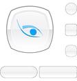 Eye white button vector image