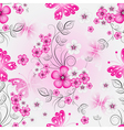 Floral effortless spring pattern with flowers vector image vector image
