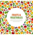food logo design template fruits and vector image