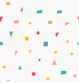 geometric confetti color brigth seamless pattern vector image vector image