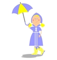 Girl walking with umbrella 20 vector image