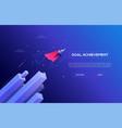 goal achievement - modern isometric web vector image vector image