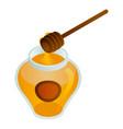 golden honey jar icon isometric style vector image
